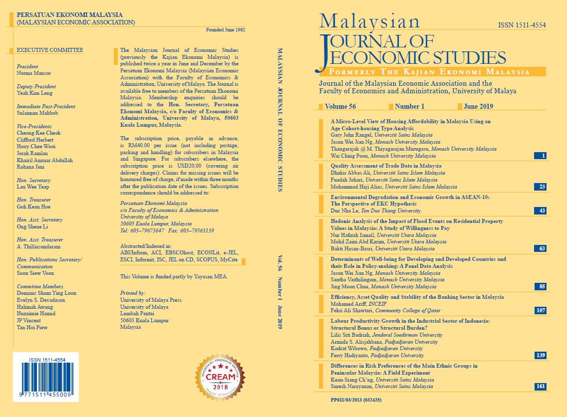 View Vol. 56 No. 1: June 2019