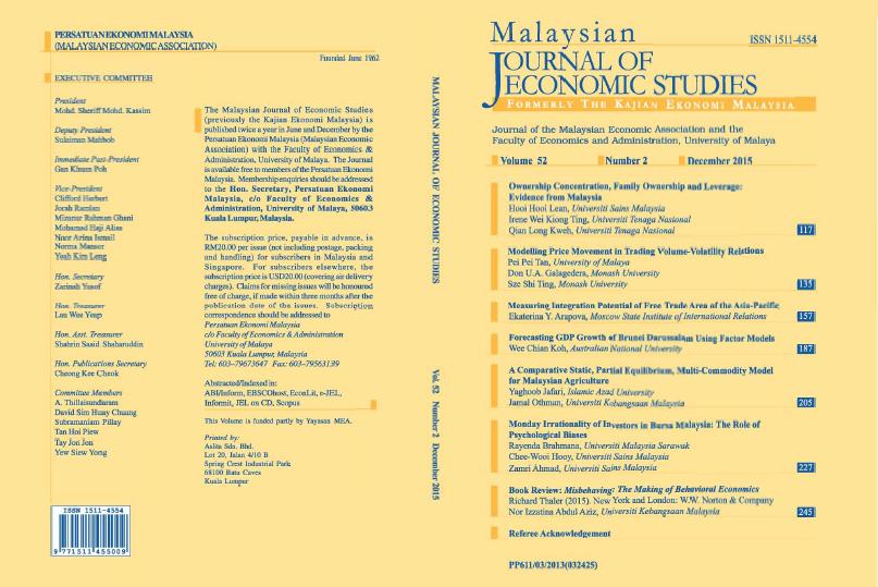 View Vol. 52 No. 2: December 2015